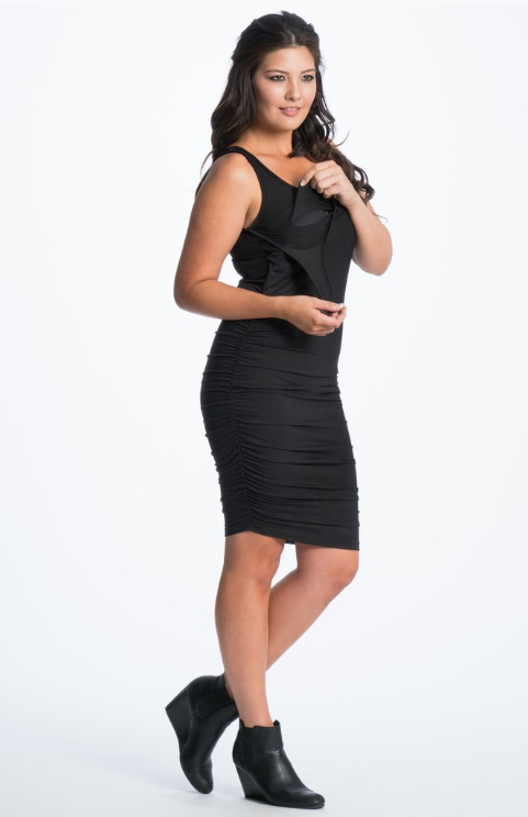 Bun Maternity Black Tank Dress Image 1